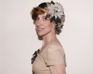MYER Fashion on the field 2012, my head piece with leather flowers