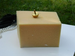 sponge for making leather flowers with flower making tools