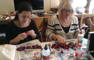 Sydney, leather rose workshop