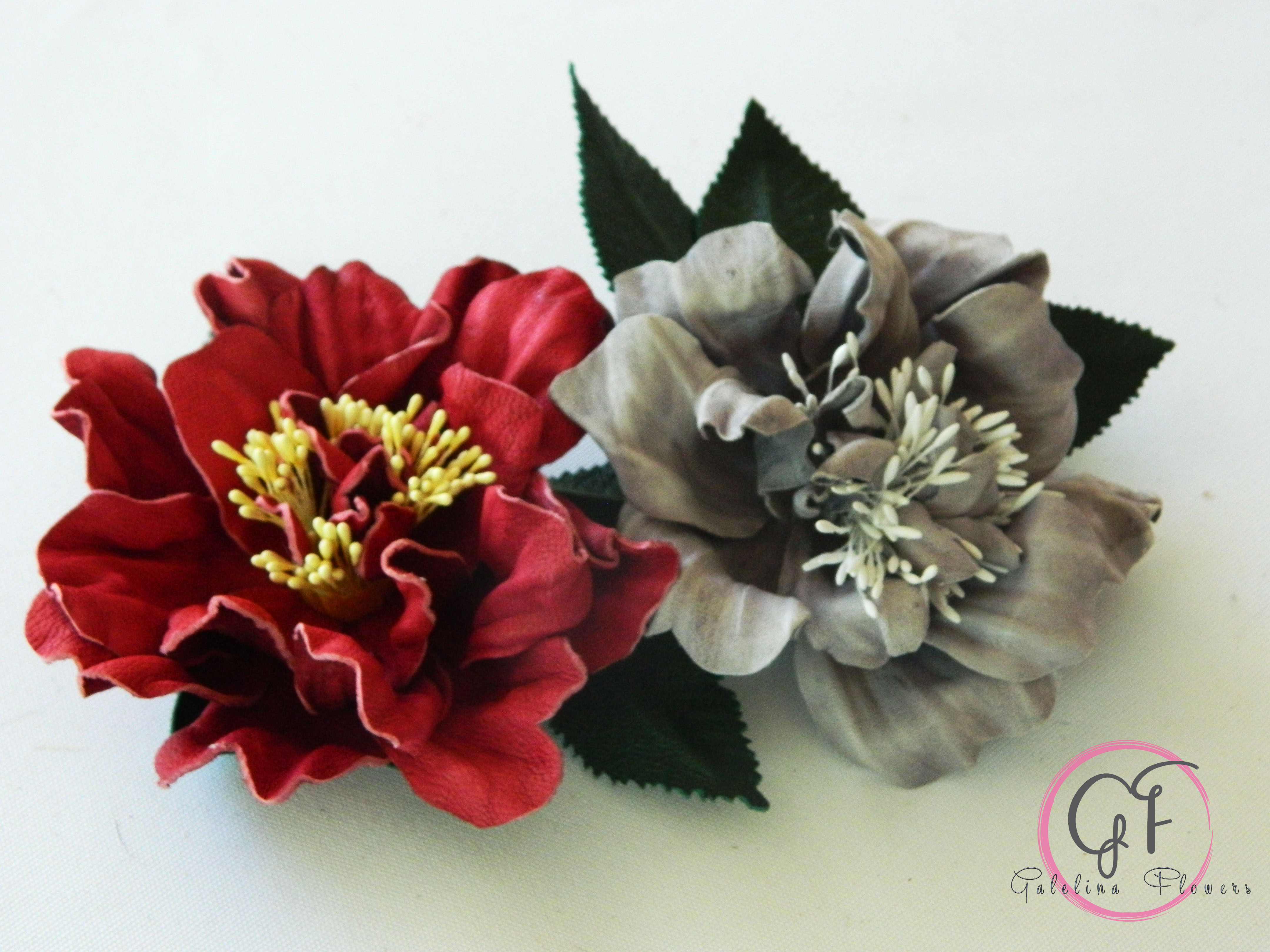 """Video Tutorial """"How to make a leather flower, Camellia"""" DIY ..."""